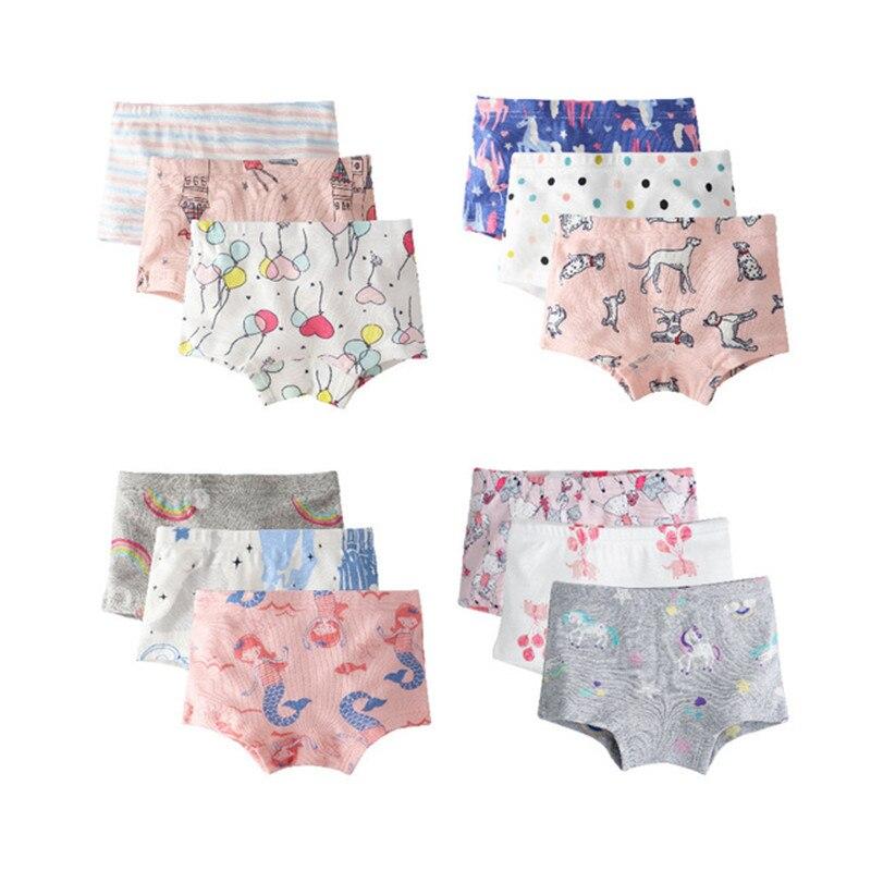 VIDMID Kids Panties Girls Boxer Briefs Children Underwear Baby Girl Cotton Lovely Animal Design Panties Children Clothes 7081 12