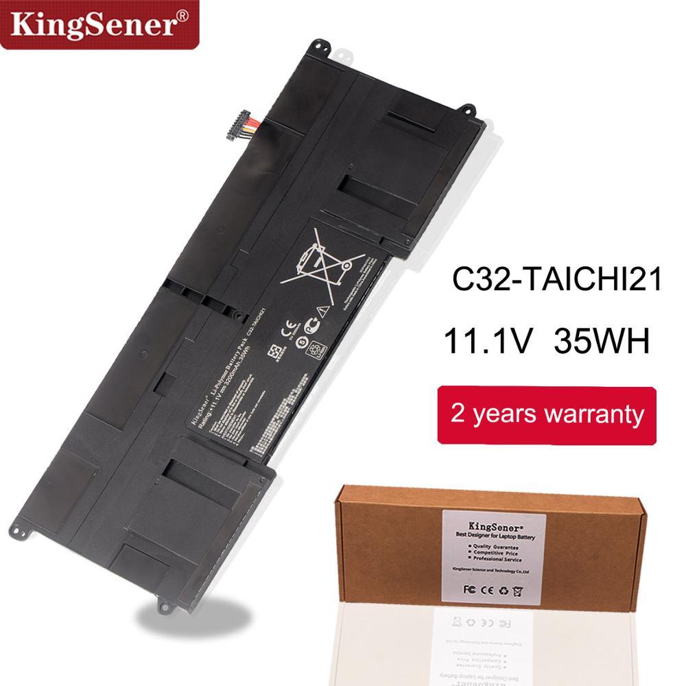 KingSener New C32-TAICHI21 Laptop Battery For ASUS Ultrabook TAICHI21 TAICHI 21 C32-TAICHI21 11.1V 3200mAh Free 2 Years Warranty
