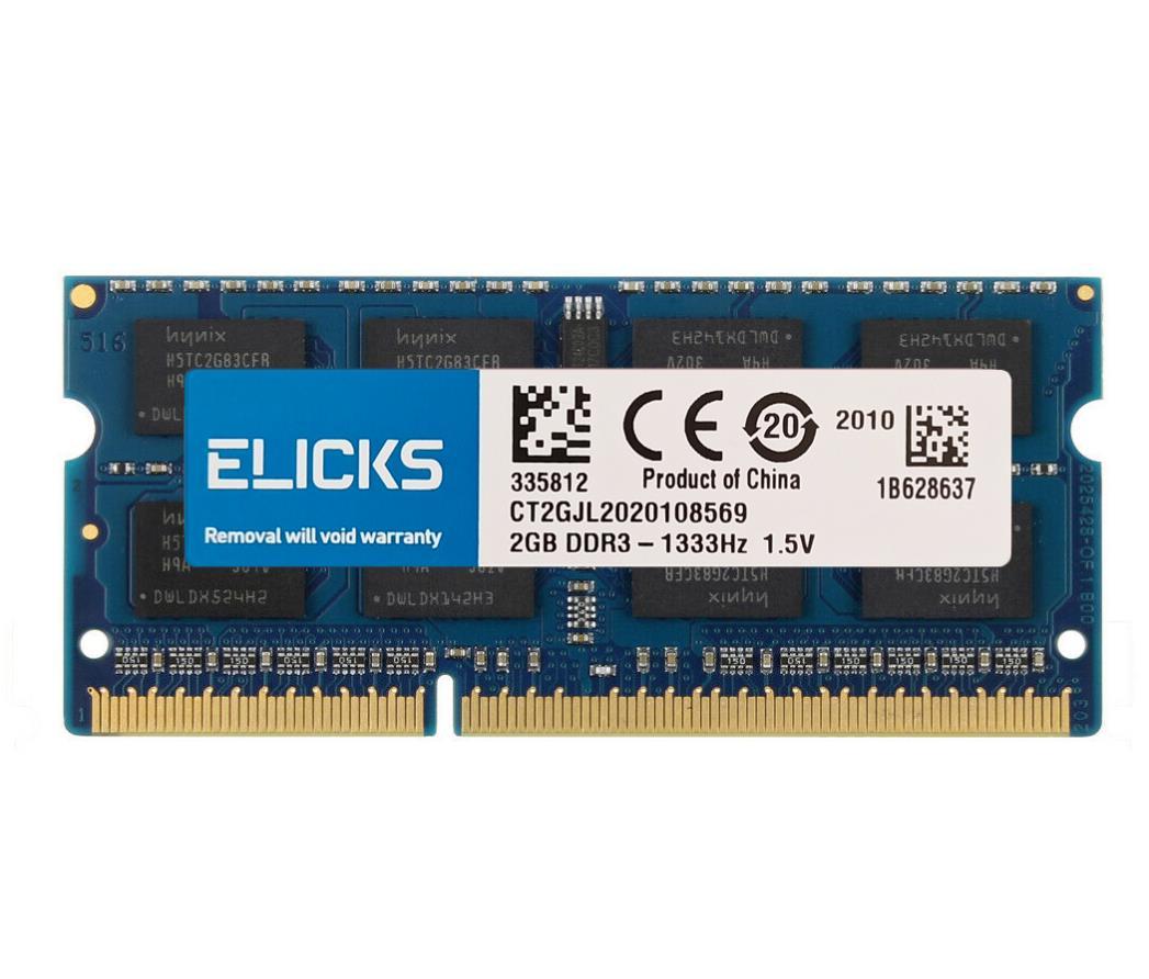ELICKS 1GB 2GB 4GB 8GB DDR2 DDR3 RAM DDR4 RAM dizüstü dizüstü anılar 533 667 800 1066 1333 1600 1866 2133 2400 2666MHz