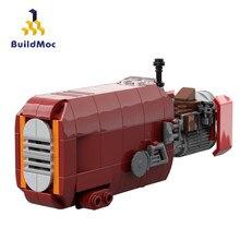 Buildmoc-modelo de motocicleta de Star Movie para niños, MOC-56363, Juguetes de bloques de construcción, el despertar de la fuerza, Rey