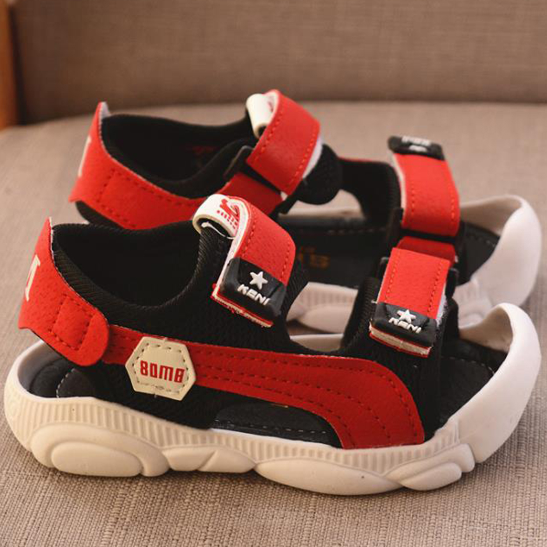 Kids Sneakers Boy Soft Soled Beach Sandals Baby Toddler Anti-slippery Summer Breathable Shoes Fashionable Design