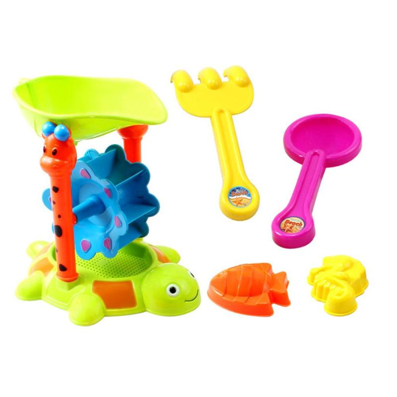 5pcs/Set Summer Beach Sand Water Play Toys Kids Seaside Bucket Shovel Tools