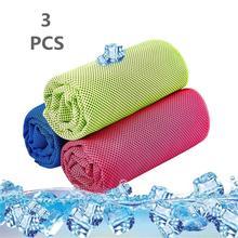 Охлаждающее полотенце в упаковке из 3 спортивных полотенец, охлаждающее полотенце для занятий спортом, плавания, йоги, тренировок, спортзала, тренажерного зала, шеи, гольфа, путешествий 40 ''x 12''