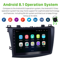 Harfey Car 9 HD Android 8.1 GPS Navi Stereo for MAZDA 3 2009 2010 2011 2012 Multimedia Player 1+16GB support TPMS 3G