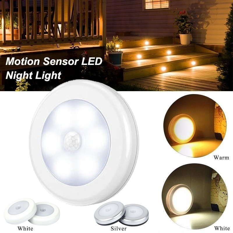 6 LED Cool Portable Wireless Motion Sensor Night Light Led Lights for Home for Living Room in Furniture Accessories from Furniture