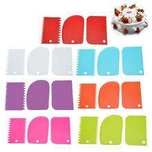 Knife Dough-Cutter Cake And Is Cream 3PCS Color-Scraper-Set Environmentally-Friendly