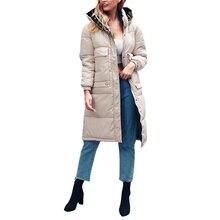 Зимнее пуховое пальто с капюшоном Женская Длинная толстая теплая куртка Женская Длинная Верхняя одежда размера плюс пальто Reccomend