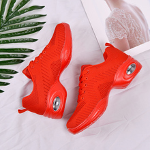 цена на Sneakers Woman scarpe donna Mesh Jazz Function Dance Shoes Women Modern Dance shoes Soft Sole Air Sneakers Running shoes Fitness
