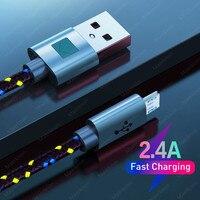 Nylon Geflochtene Micro USB Kabel 1m/2m/3m Daten Sync farben USB Ladegerät Kabel Für samsung HTC LG huawei xiaomi Android Telefon Kabel