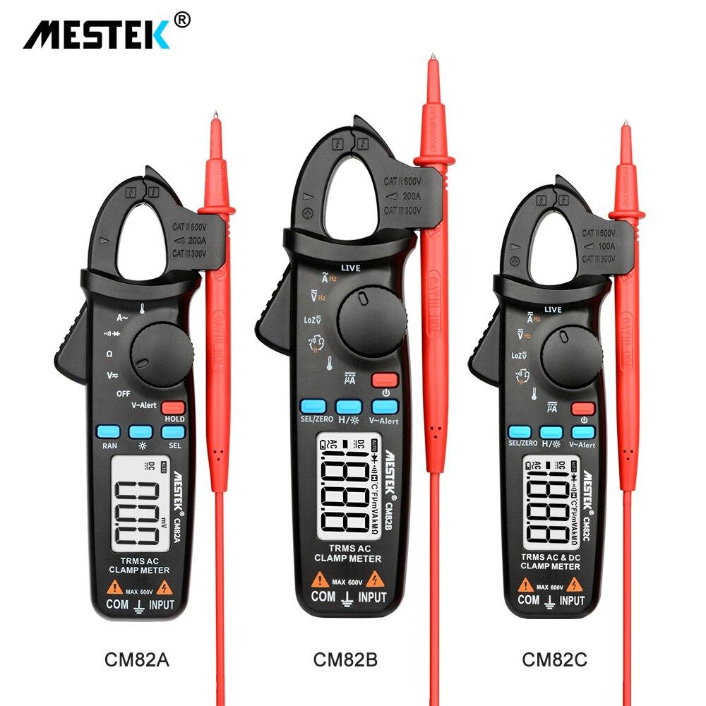 True RMS цифровой клещи MESTEK CM82A/B/C постоянного тока переменного тока Напряжение Ампер NCV ом тестер Амперметр мультиметр электрика инструмент
