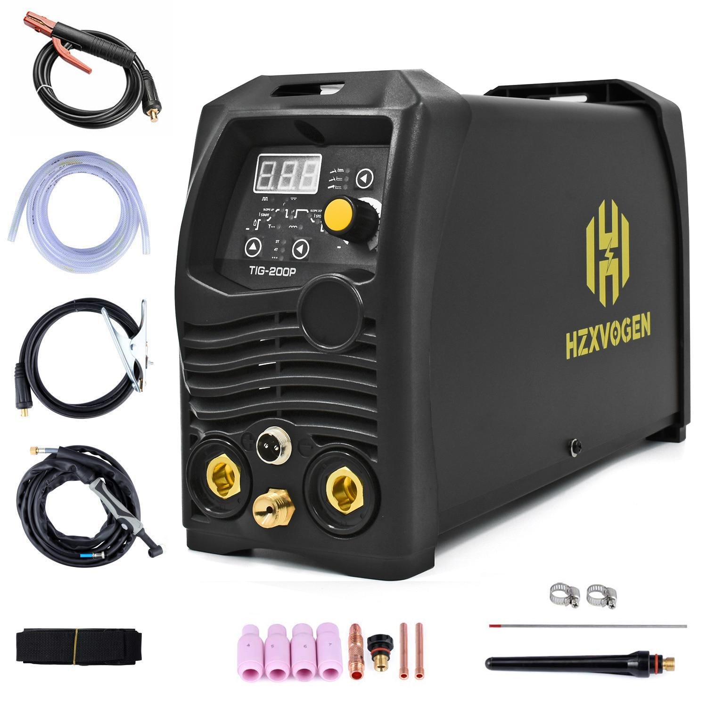 HZXVOGEN Tig Welder 110V 220V Power TIG200 Pulse Tig Arc 2 In 1 Professional 2T 4T Tig Argon Gas Welding Tig Welding Machine