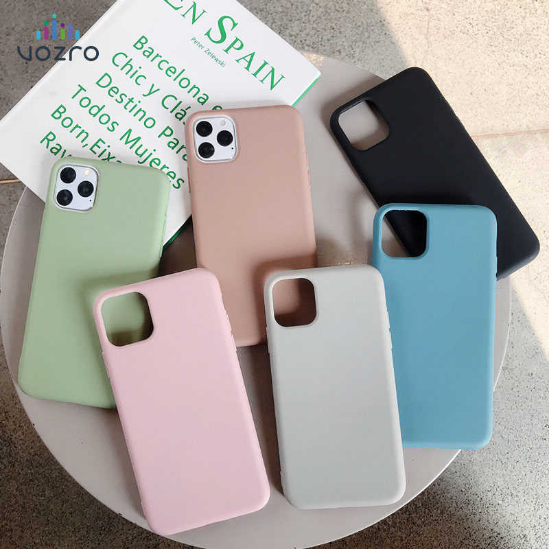 For iPhone case 11 Pro Max 7 8 Plus X Xs MAX Plus Cover Luxury Original Soft TPU Cover Accessories Bag Layers Shell Fitted Cases