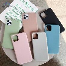 Cho iPhone 11 12 Pro Max 6 6S 7 8 Plus X Xs Max Bao Da Sang Trọng Ban Đầu Mềm Mại ốp Lưng TPU Không Logo Lớp Vỏ Lắp Trường Hợp