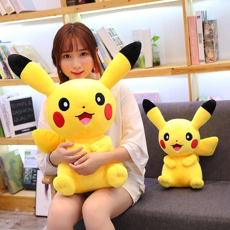 28-65cm Kawaii Pikachu Plush Toys Cute Soft Toy Cartoon Pikachu Stuffed Animal Plush Doll Nap Pillow Baby Kids Toy Children Gift