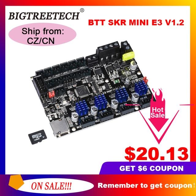 BIGTREETECH BTT SKR MINI E3 V1.2 32 Bit Control Board Integrated TMC2209UART RGB Marlin For Ender 3/5 Pro 3D Printer Parts