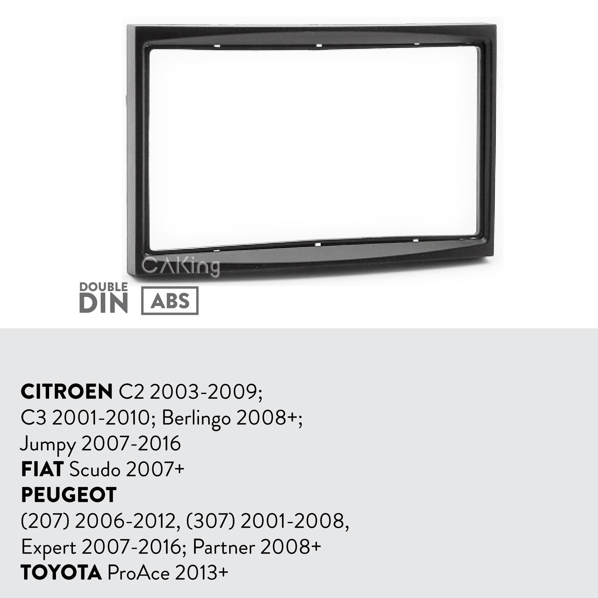 Ctkct 01 Double Din Fascia /& direction Antenne Kit Pour Citroen Dispatch 2008 />