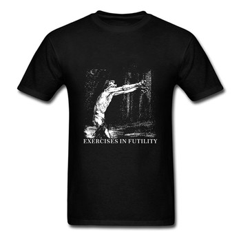 Exercise In Futulity further dowm the nest T shirt men printing Black metal band custom tee SIZE S-XXXL