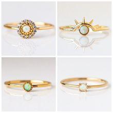 Изящный огненный опал кольца для женщин золотые обручальные кольца с фианитами из меди обещающее кольцо на День святого Валентина подарки серебро а30
