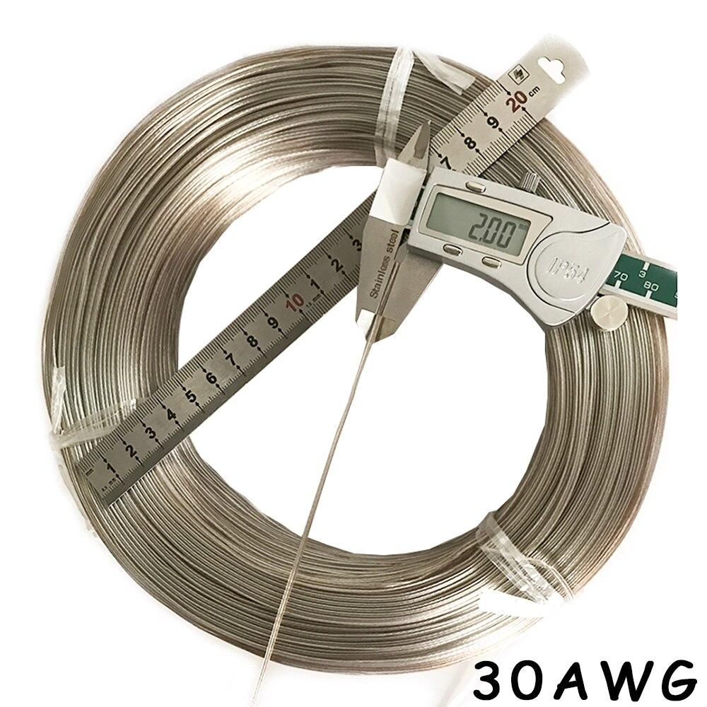 30AWG прозрачный двойной провод аудио светодиодный электронный игрушечный автомобиль батарея мощность ПВХ изолированный провод электронный...