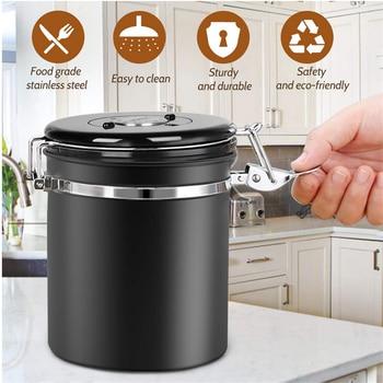 Stainless Steel Sealed Tank Storage Tank Moisture-proof Coffee Bean Milk Powder Jar Tea Pot Kitchen Grains Storage Box 5