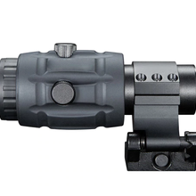 Red dot sight scope compatible 3x magnifler accessory with side flid 20mm picati
