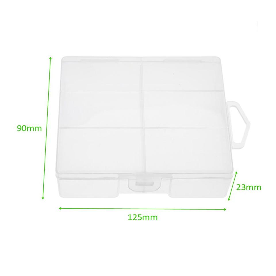 1Pc PALO Transparent AA Battery Storage Box Case High-quality Container F3W8