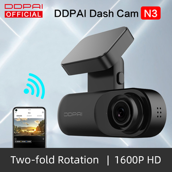 DDPai Dash Cam Mola N3 1600P HD GPS Vehicle Drive Auto Video DVR Android Wifi Smart Connect Car Camera Recorder Parking Monitor
