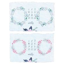 Kids Baby Milestone Flannel Blanket Chil