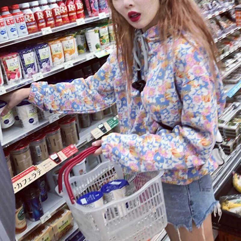 Autumn Winter Floral Sweatshirts Harajuku Loose Women Hoodies Casual Pullover