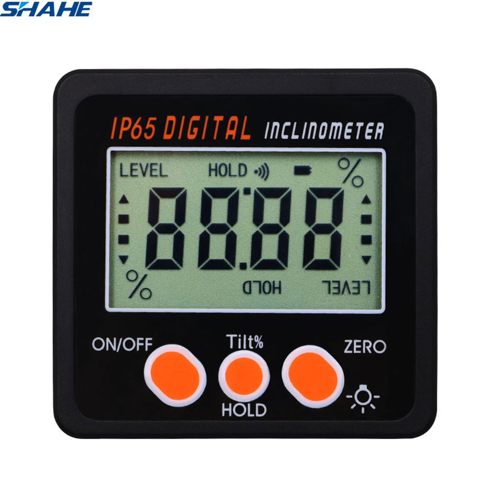 IP65 Waterproof  Protractor With Back light inclinometer Angle Bevel Box Electronic Protractor Magnetic Base-in Protractors from Tools