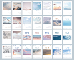 Record sky paper greeting card lomo card(1pack=28pieces)