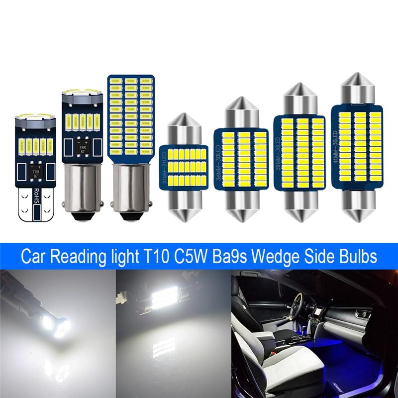 10pcs Ba9s T10 W5w C5w Led T4w Bulbs Car Light Bulb 15 Led 33 Leds Non Polarity Auto Led Trunk Lights License Plate Lamp Big Discount 03a1a9 Blandhantlarsvettochfett