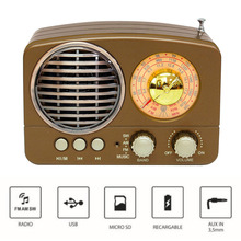 M-161BT Gift Mini Multifunction Radio USB Rechargeable TF Card Slot Portable AM FM SW ABS Retro Audio Bluetooth Speaker Home usb rechargeable mini 1 44 lcd 2 0m pixels cmos video camera red tf slot