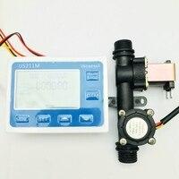 US211M USN HS21TX Dosierung Maschine Quantitative Controller Wasser Flow Meter Sensor Reader 1 30L/min 24V mit Sensor und Magnet-in Durchfluss-Sensoren aus Werkzeug bei