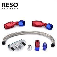 RESO--10AN turbo aço trançado linha de drenagem de óleo de retorno AN10 T3 T4 T04E T70 T60 T61 GT35