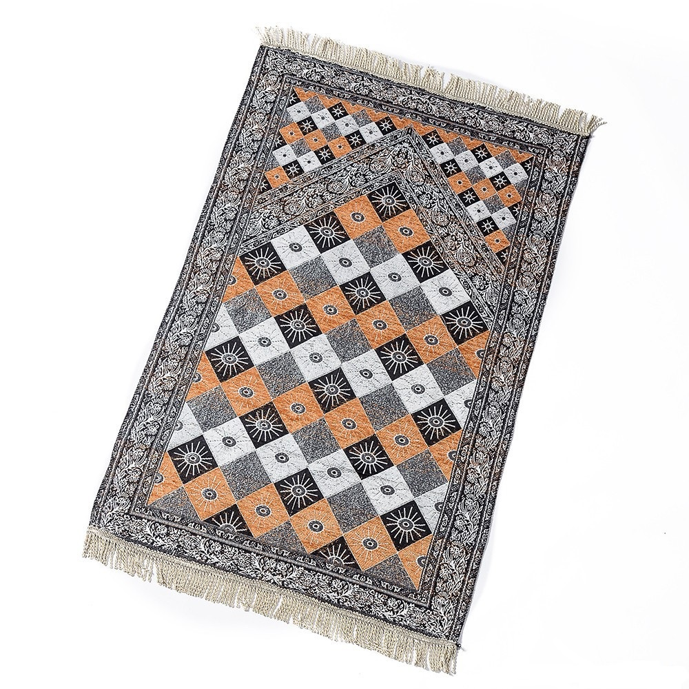 2019 New Arrival 4 colors soft Muslim Prayer Rug Polyester Portable Mats Travel Home New Style Mat Blanket 70*110cm image