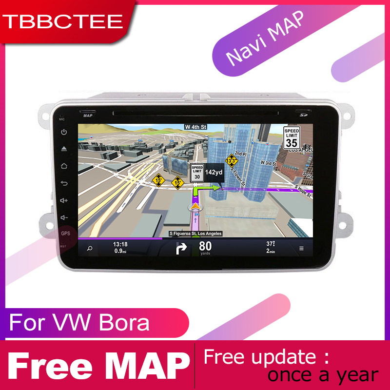 US $367 2 40% OFF|TBBCTEE android car dvd gps multimedia player For  Volkswagen VW Bora 2005~2018 car dvd navigation radio video audio player  Navi-in
