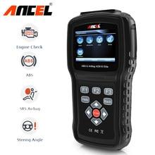 Ancel ad610 elite verificação do motor abs srs airbag saco de ar sas redefinir dados acidente automotivo scanner ferramenta diagnóstico do carro obd2 scanner