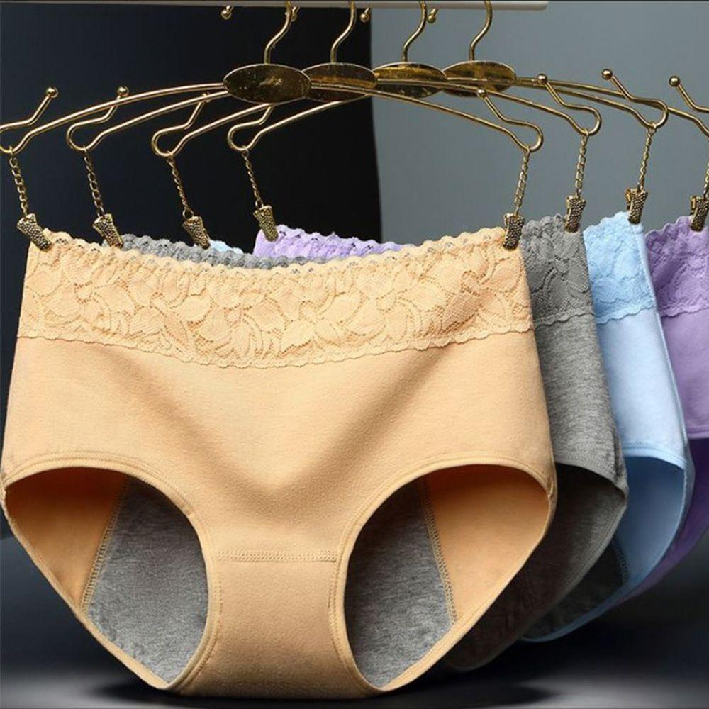 Female Physiological Panties Leakproof Menstrual Women Panties Period Cotton Health Seamless Panties In The Waist Warm