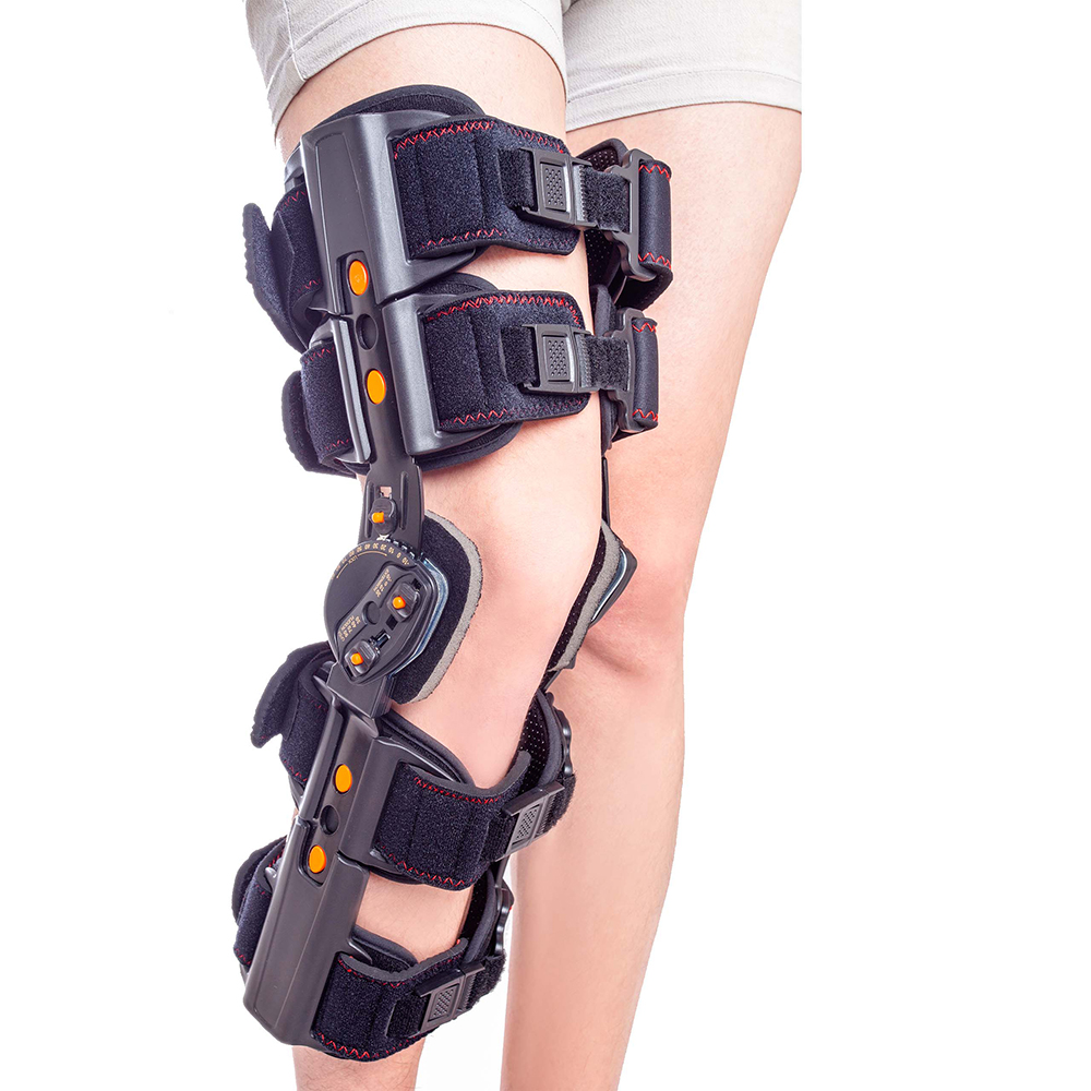 Newest Design ROM Post Op Knee Brace Adjustable Hinged Leg Braces & Supports Universal Size-in Braces & Supports from Beauty & Health