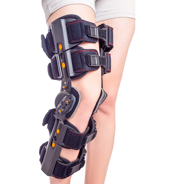 Newest Design ROM Post Op Knee Brace Adjustable Hinged Leg Braces & Supports Universal Size