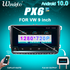 PX6 Car RADIO 2 din Android 10 for Seat Altea VW Passat B7 CC GOLF 5 6 Polo Tiguan 2din stereo auto audio autoradio navigation