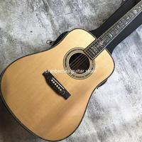 2020 top quality all solid wood D model 6 string acoustic guitar,spruce top,rosewood back and side,ebony fretboard,Free shipping