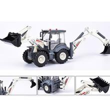 цена на Alloy Diecast Excavator 1:50 4 Wheel Shovel Loader Two-way Forklift Bulldozer Backhoe Loader Truck Model For Kids Gift Toys