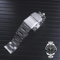 22mm High Quality BrushedSolid Stainless Steel Watch Bracelet Watch Strap Bands For fit Bretiling SUPEROCEAN Strap