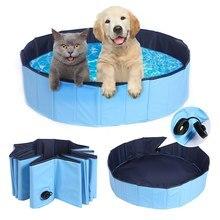 Складной бассейн для собак, для домашних животных, ванна для купания, портативный, прочный, складной бассейн для купания для собак, кошек