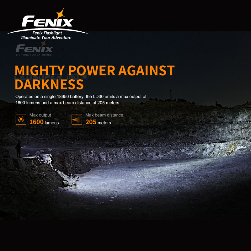 New Arrival 1600 Lumens Fenix LD30 Ultra compact Outdoor Flashlight with High Output - 2