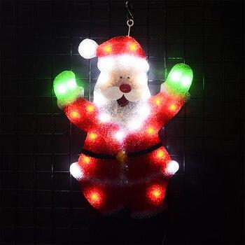 Toprex 2D santa clause christmas lights outdoor holiday fairy lights festival navidad lamp decoration lights indoor цена 2017