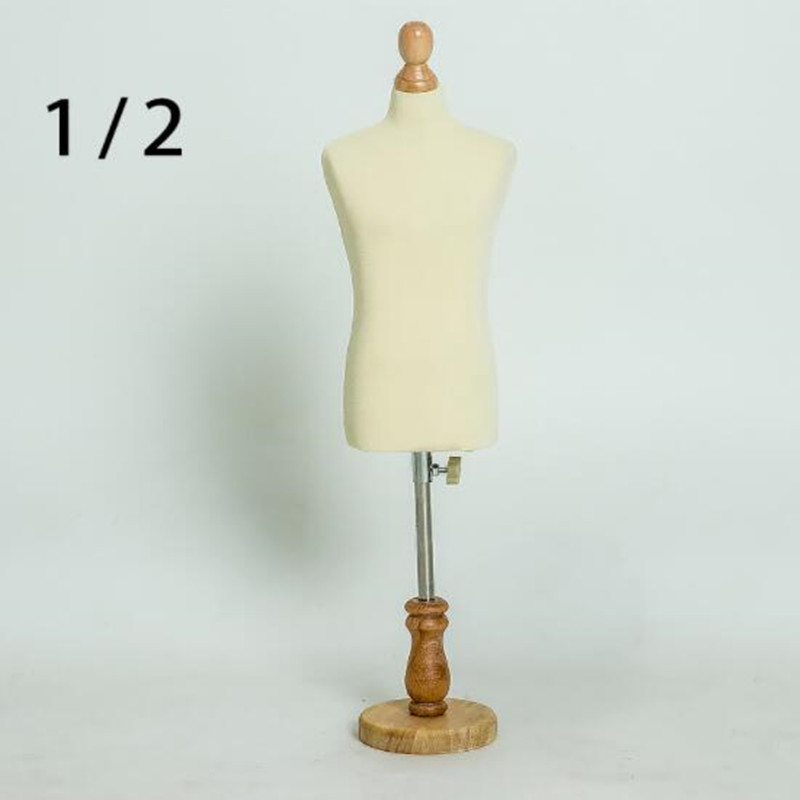 1/2 femme robe forme Mannequin, bijoux flexible femmes étudiant couture, 1: 2 échelle Jersey buste, support réglable Mini taille, poupée C810