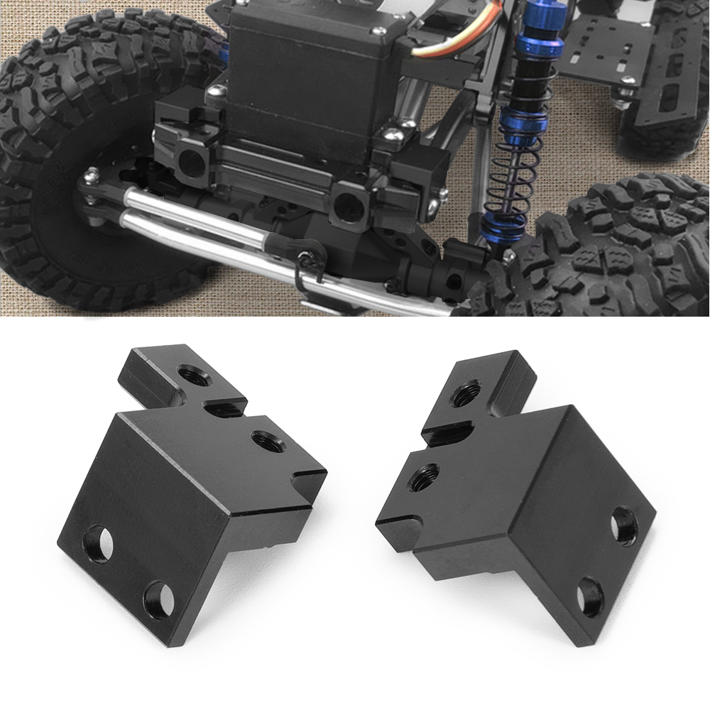YEAHRUN Aluminum Alloy Servo Mount Plate Kit For Axial SCX10 90046 RC 1/10 Crawler Car